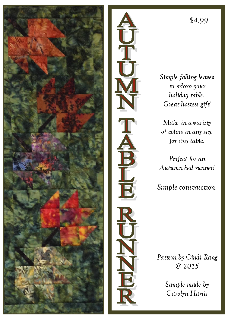 Autumn Table Runner Downloadable Pattern