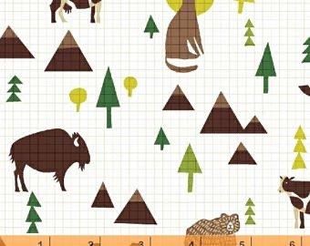 Coast to Coast grid with wilderness animals