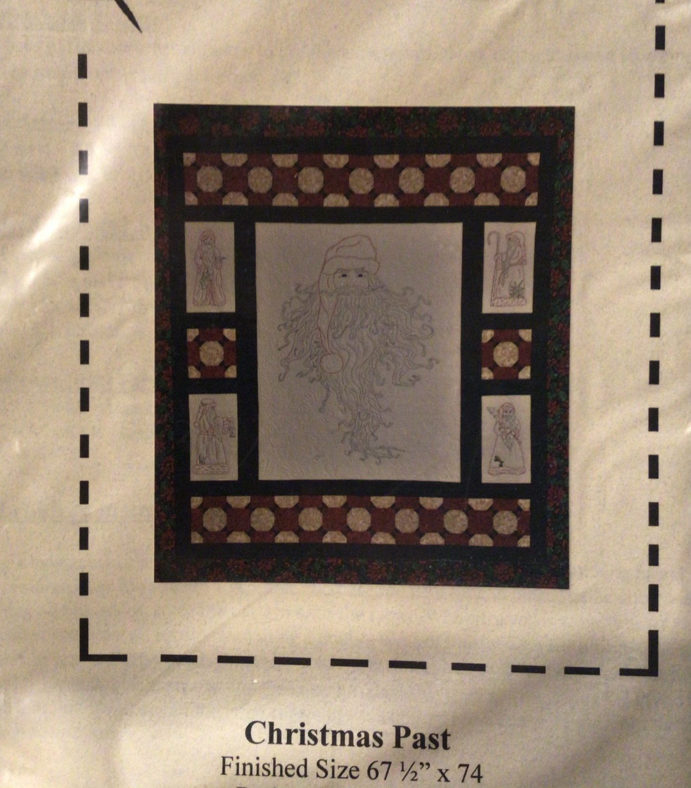 Christmas Pastembroidery Santa Head