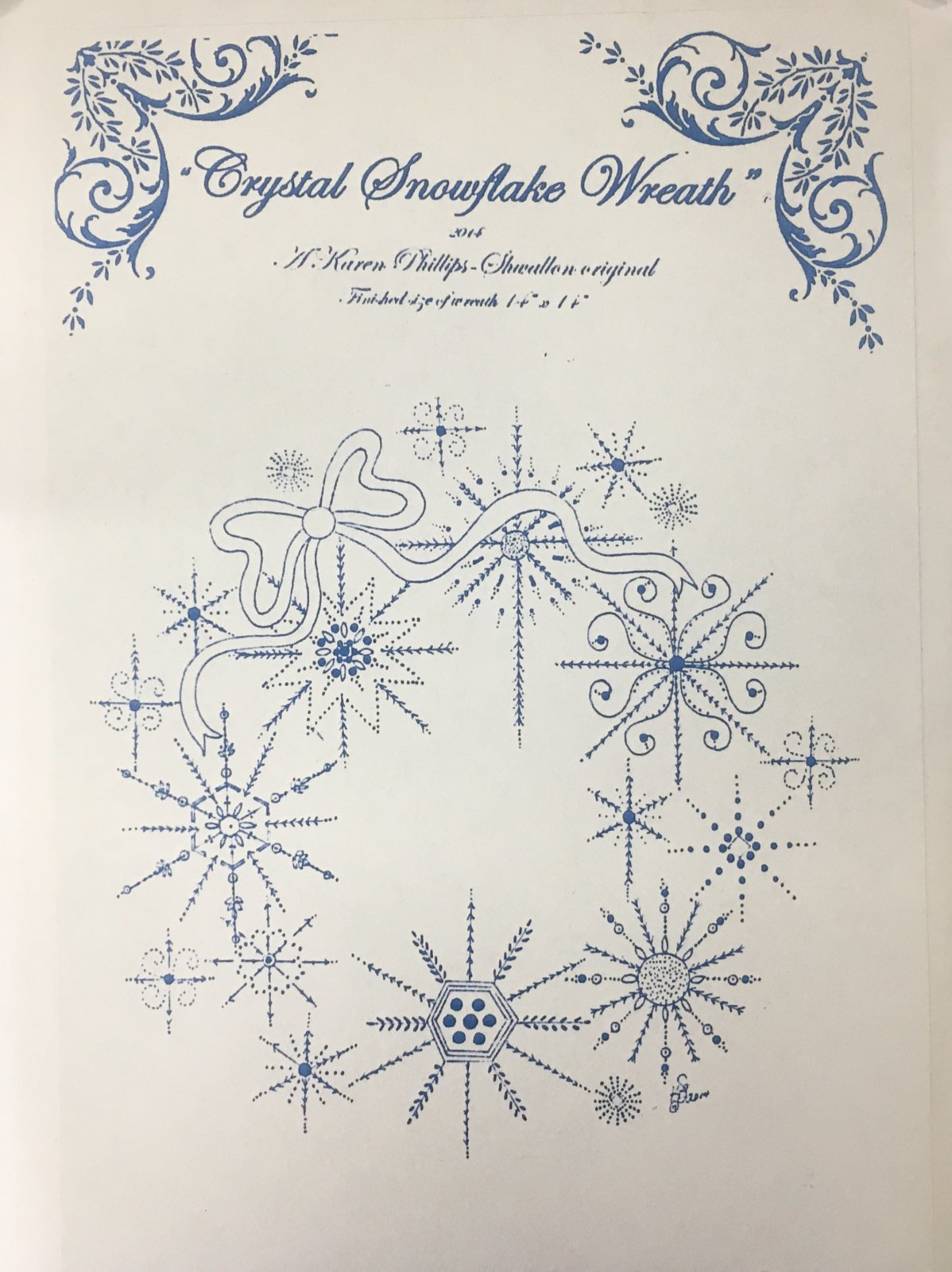 Crystal Snowflake Wreath