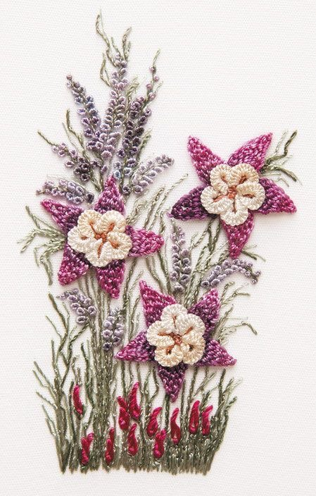 Chinese Columbine KitBrazilian hand embroidery