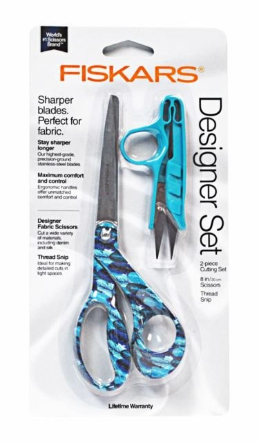 Fiskars Designer Set 8 Inch Scissor with Snip