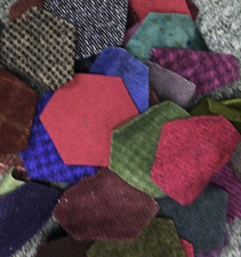 Hexigon wool pennies36pcs