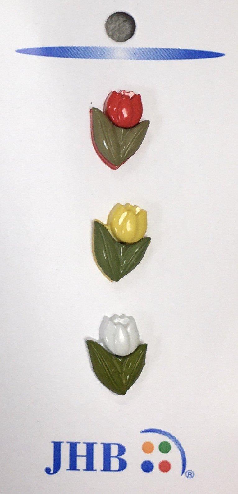 "Tulip Button 5/8"" Card (3ct)"