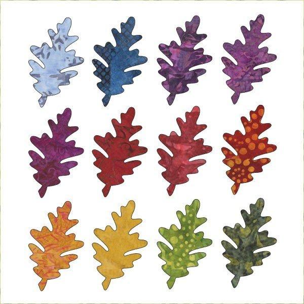 Falling Oak Leaves (12ct)Applique Elementz