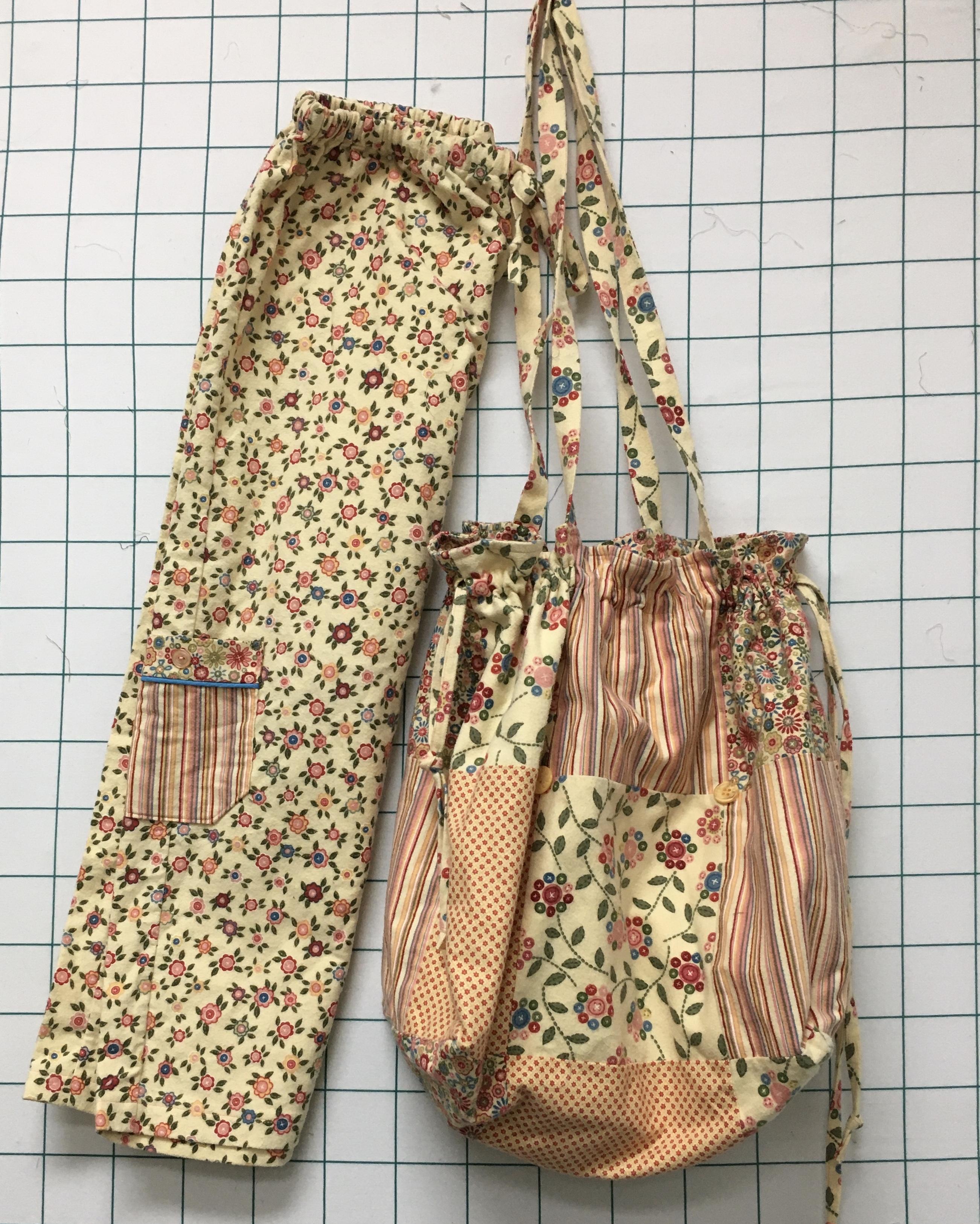 PJ pants and bag