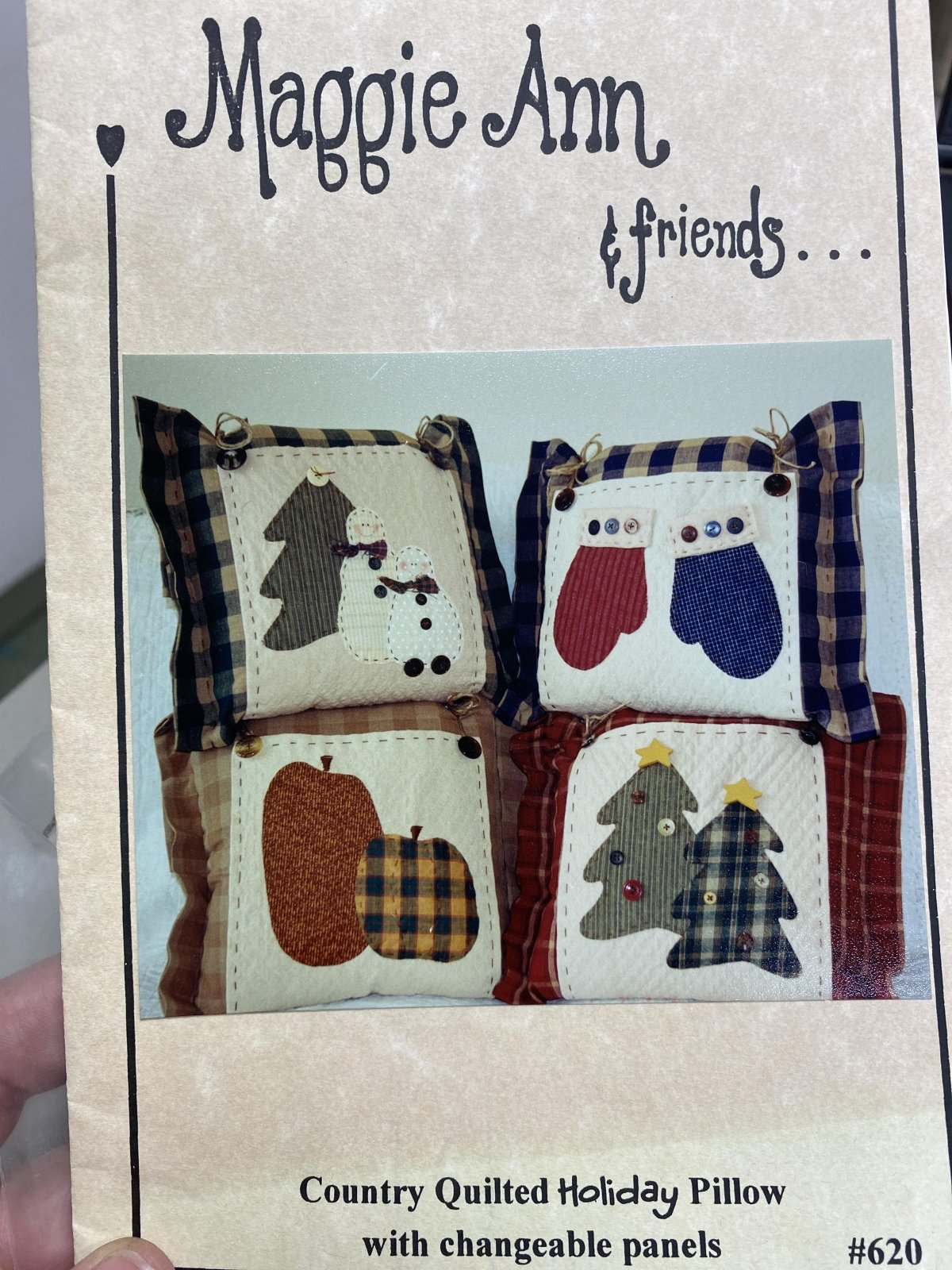 Country Quilted Holiday Pillow