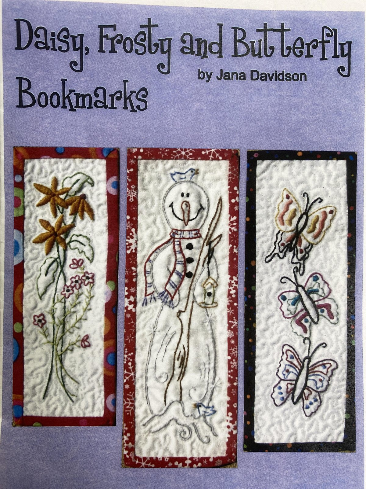 Daisy, Frosty and Butterfly Bookmarks
