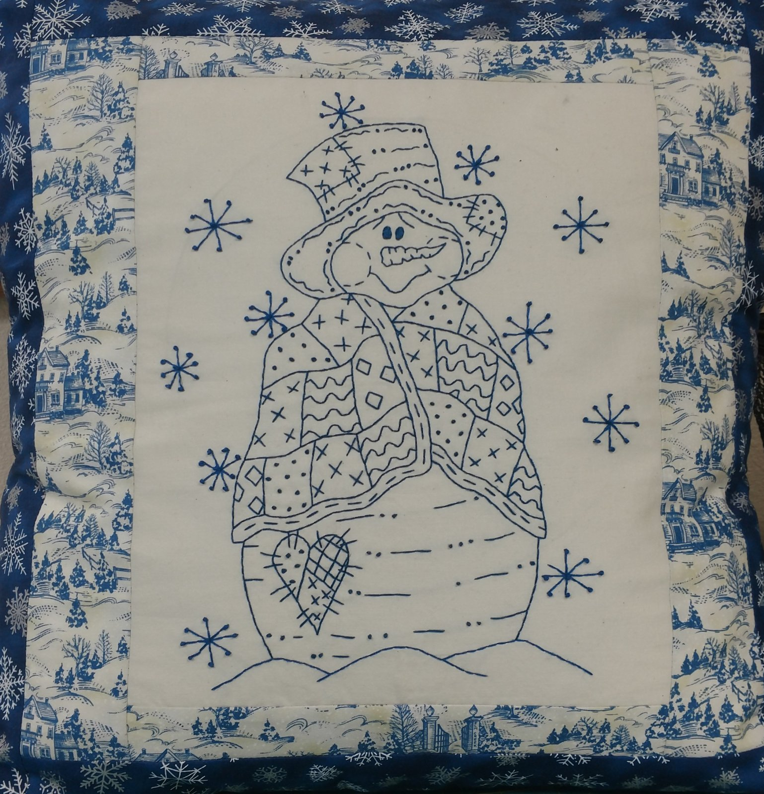 Frosty hand embroidery kit