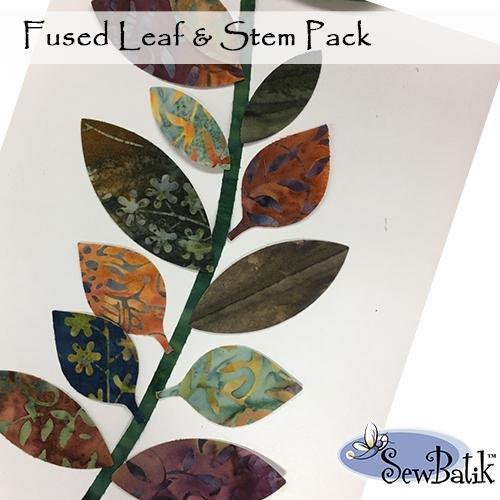 SewBatik fused Leaf/stem