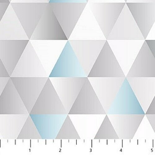 MajesticGrey & Blue Med Triangles
