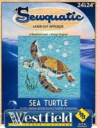 Sea Turtle Laser Cut Applique