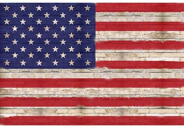 Sun Up To Sundown American Flag