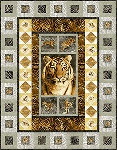 Free Tiger Kingdom Quilt