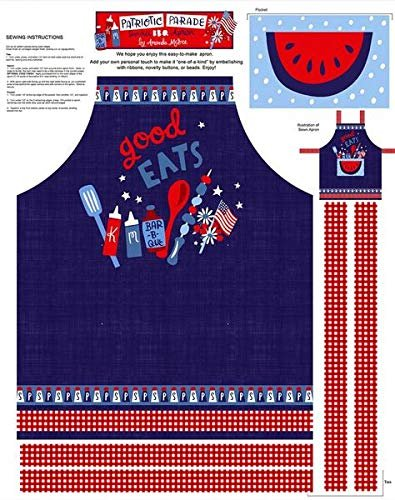 Patriotic Parade Apron Panel