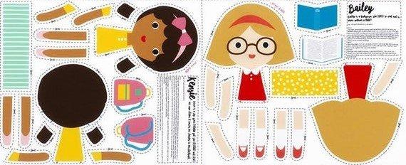 Girlfriend Doll Panel - Bailey and Keryie