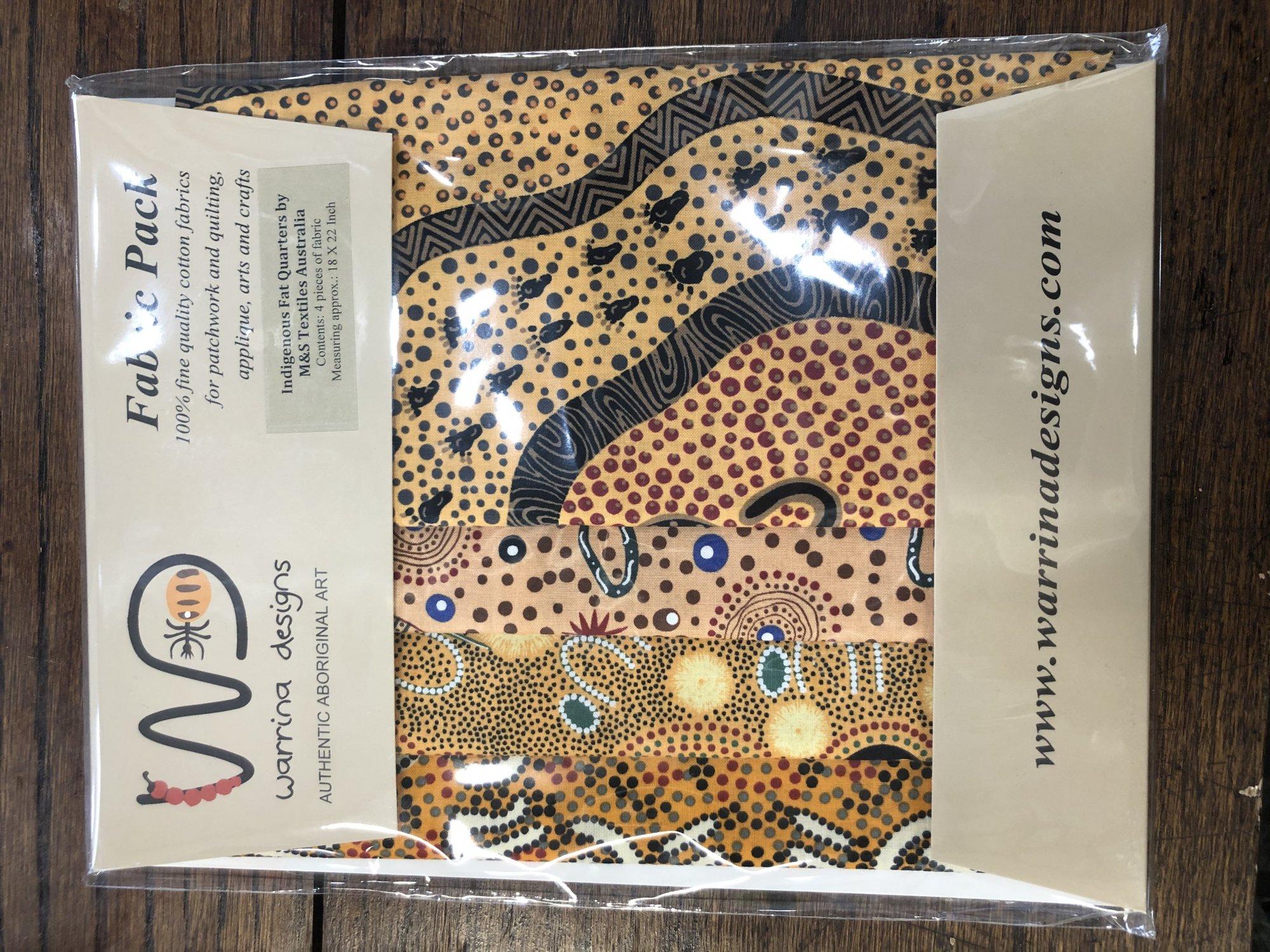 Aboriginal Fat Quarter 4 Pack