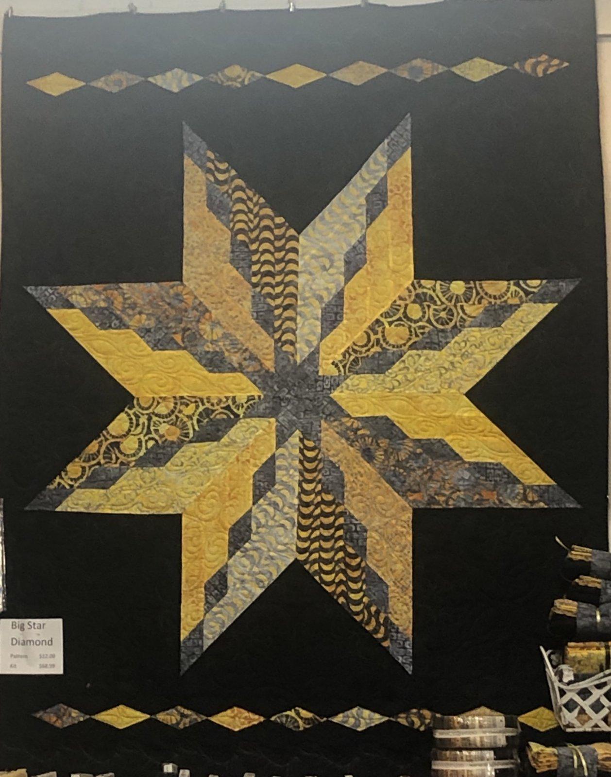 Big Star Diamond Kit - inc binding (PATTERN NOT INCLUDED)