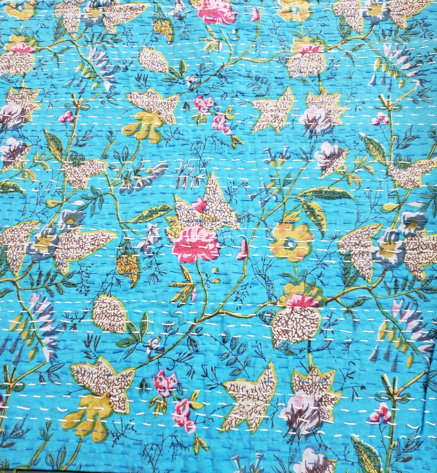 Light Blue Kantha
