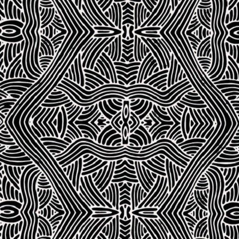 UNTITLED BLACK Aboriginal Fabric