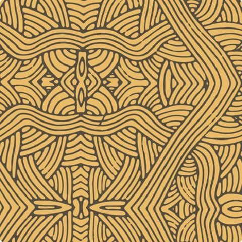 UNTITLED GOLD Aboriginal Fabric