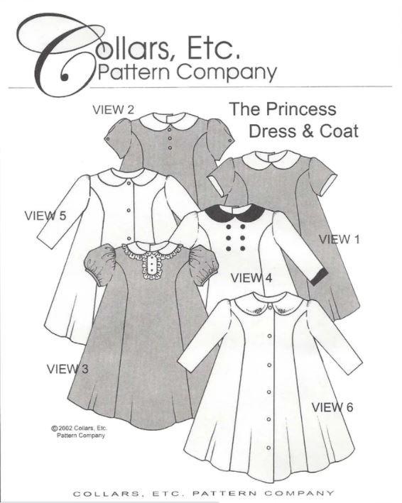 COLLARS, ETC Princes Dress & Coat Size 3/4