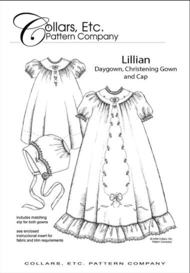 COLLARS, ETC Lillian Christening Gown and Cap