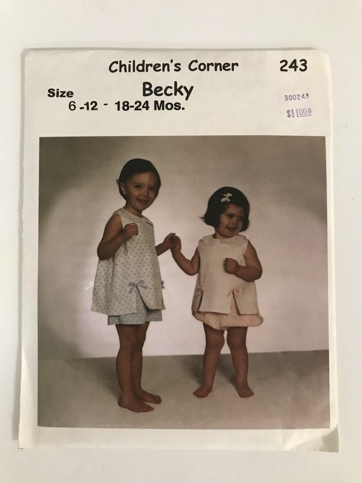 CHILDREN'S CORNER BECKY