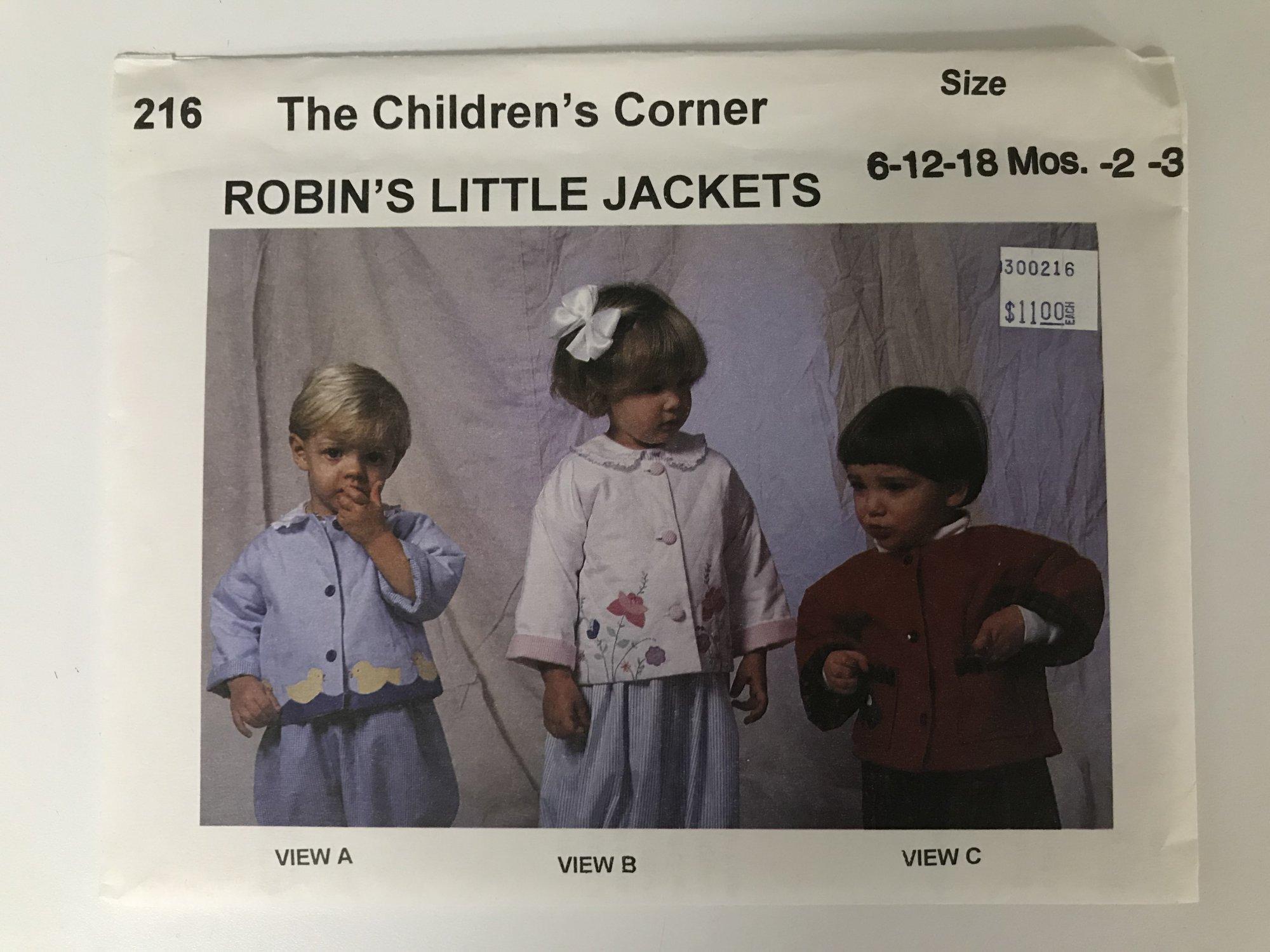 CHILDREN'S CORNER ROBIN'S LITTLE JACKET