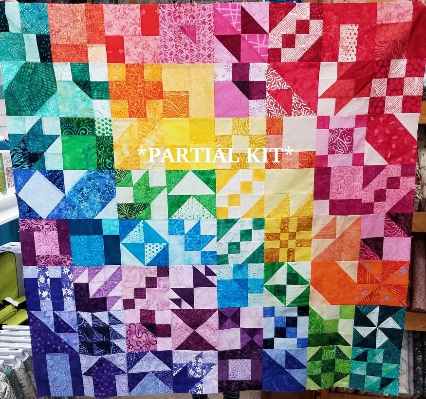 2020 PARTIAL Quilt Club Kit - BATIK Colorway
