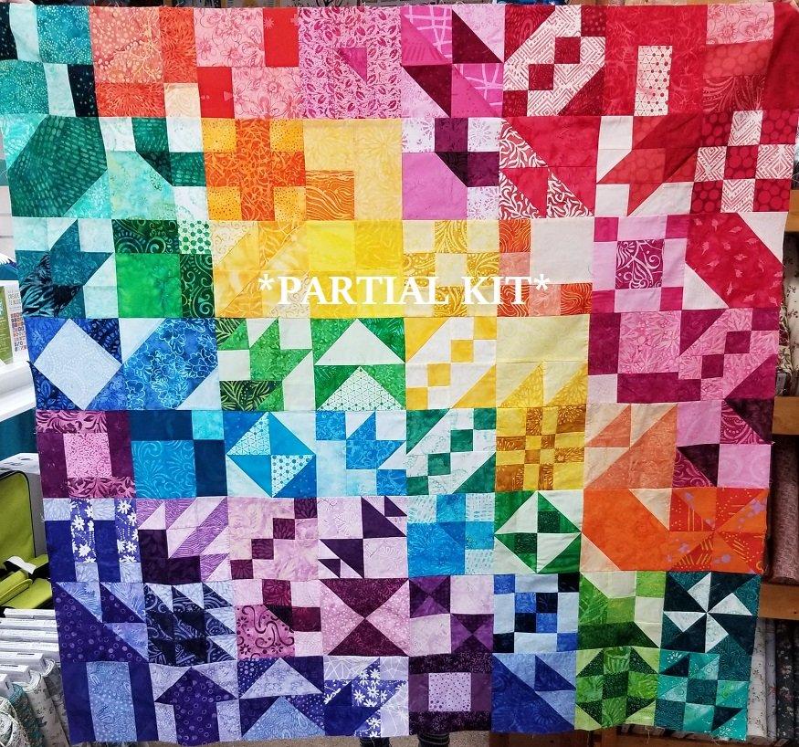 2020 PARTIAL Quilt Club Kit - BATIK Colorway