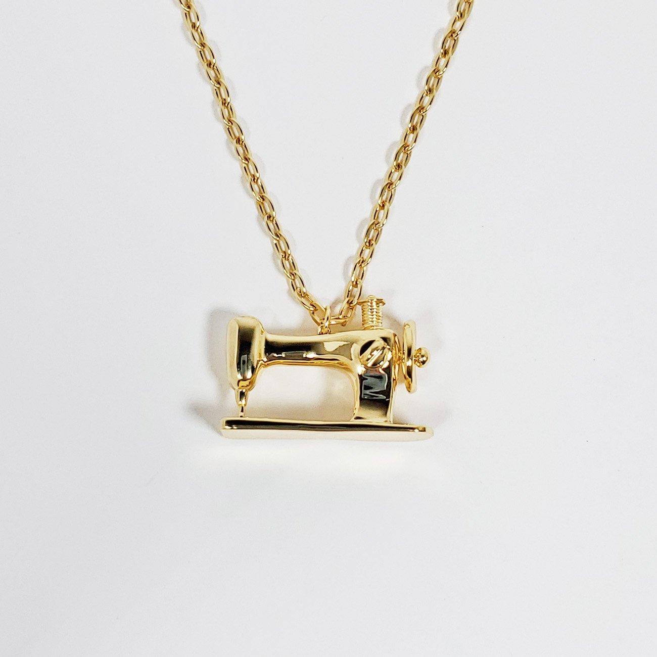 Sewing Machine Pendant Gold