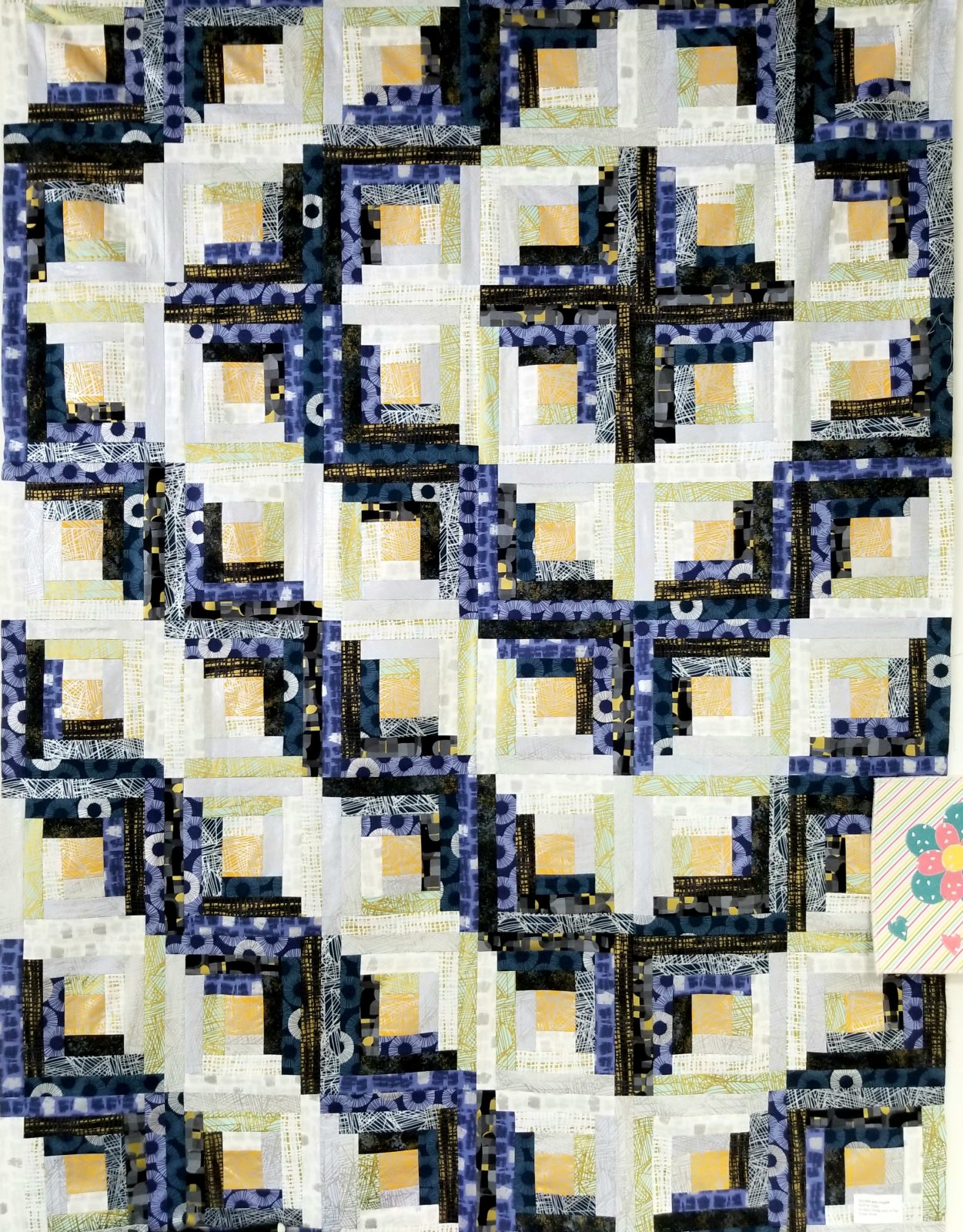 Shiny Objects Log Cabin Quilt Kit