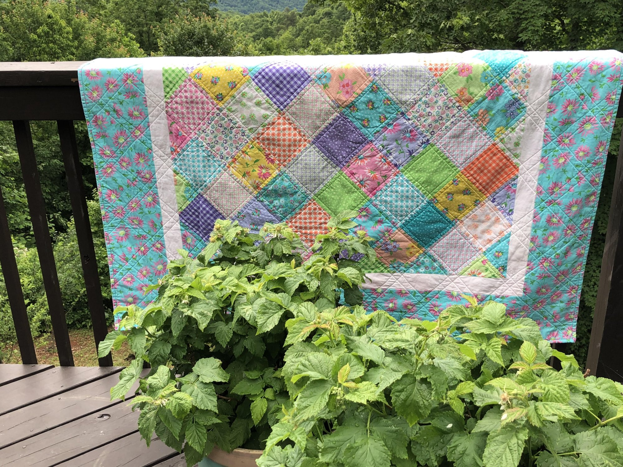 49. Charm Quilt on Point