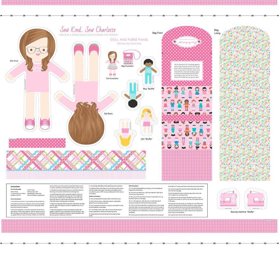 Sew Kind doll panel
