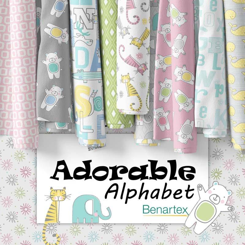 Adorable Alphabet by Benartex