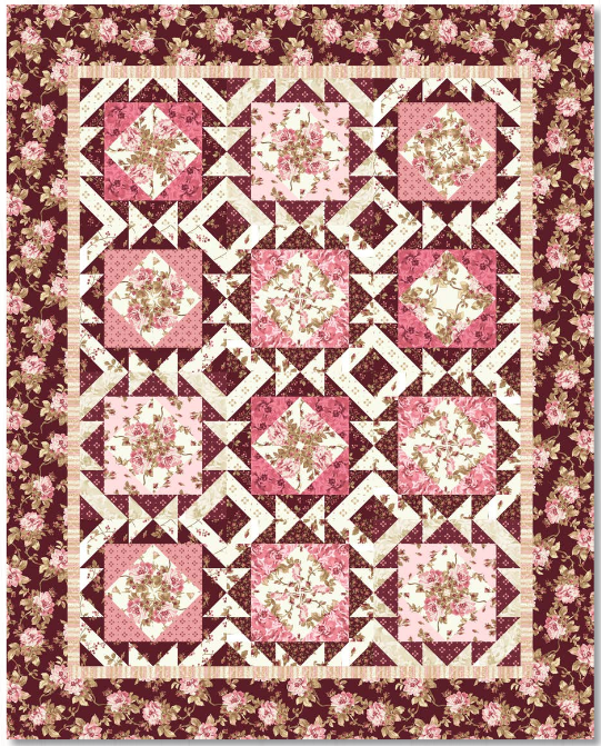 Burgundy and Blush quilt kit