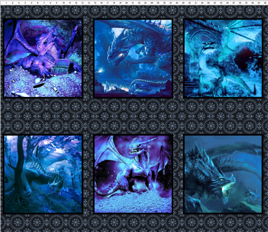 Dragons - Blue Fury Secondary Panel by In The Beginning