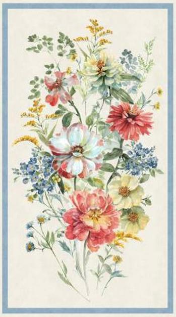 Sketchbook Garden Panel by Wilmington Prints