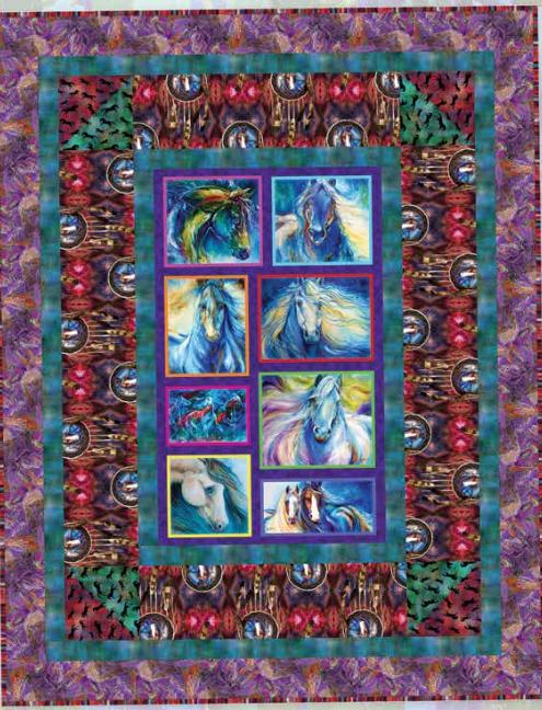 Wild Horses quilt kit
