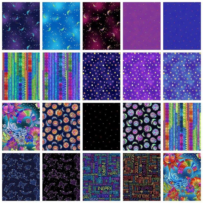 Celestial Magic by Laurel Burch for Clothworks