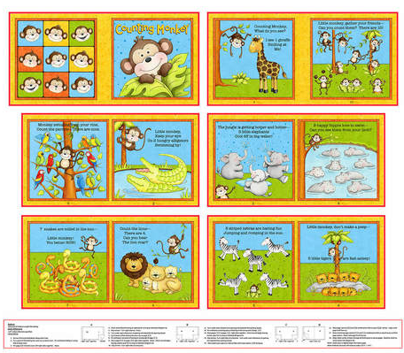 Little Readers Counting Monkeys Panels by Henry Glass & Co.