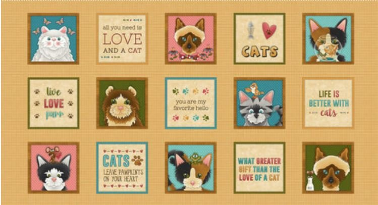 Live Love Meow Horizontal Panel by Henry Glass