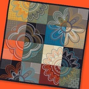 Modern Petals Tiling Scene Embroidery CD