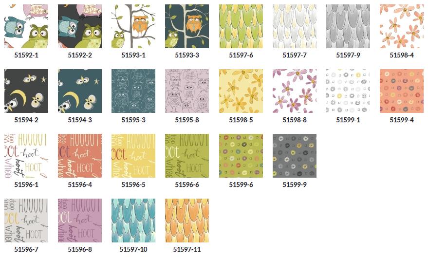 Whoo's Hoo by Windham Fabrics