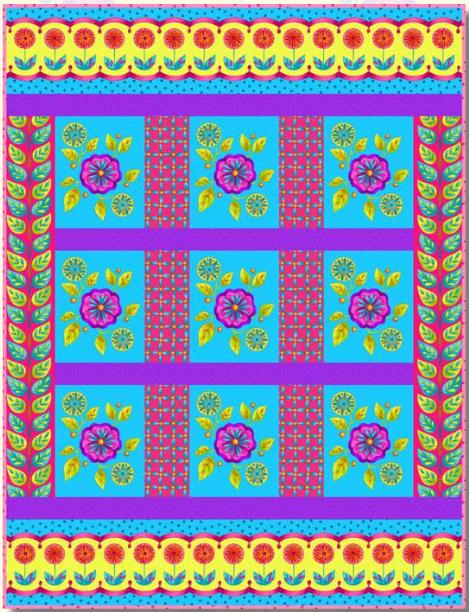 Petals Go Round quilt kit