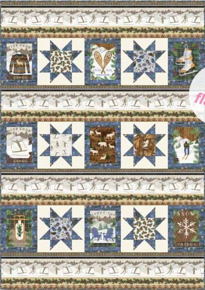 Pine Cone Lodge Quilt Kit