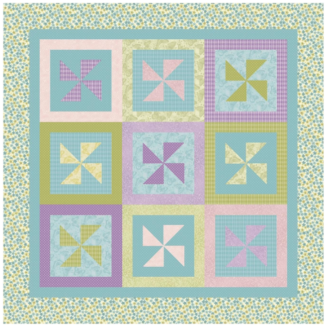Pinwheels in the Garden quilt kit