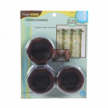 Curtain Grommets Rustic Brown 1-9/16