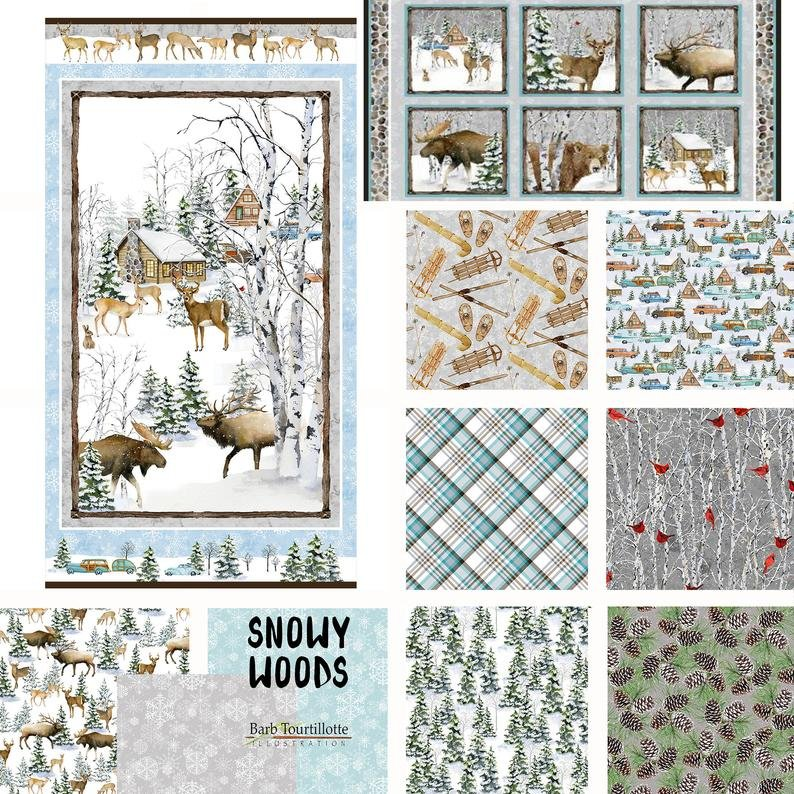 Snowy Woods by Henry Glass